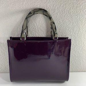 Neiman Marcus Faux Patent Purple Tote